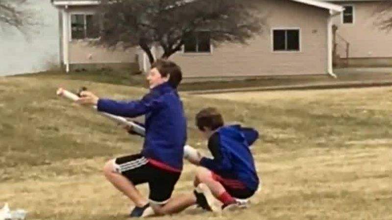 Jack Talbot and his brother, Owen, experimenting with rockets.