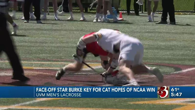 Sophomore Tommy Burke is one of the nation's best in the face-off circle.