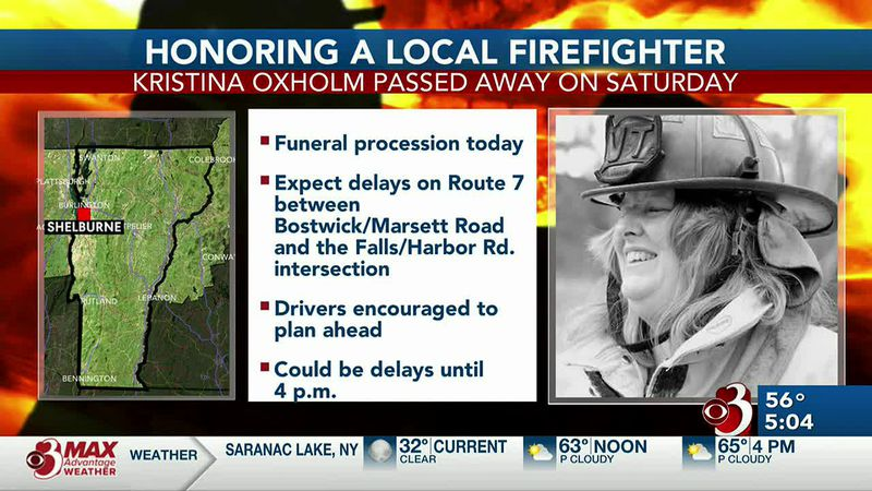 Kristina Oxholm, a life member of the Shelburne Volunteer Fire Department and a volunteer...