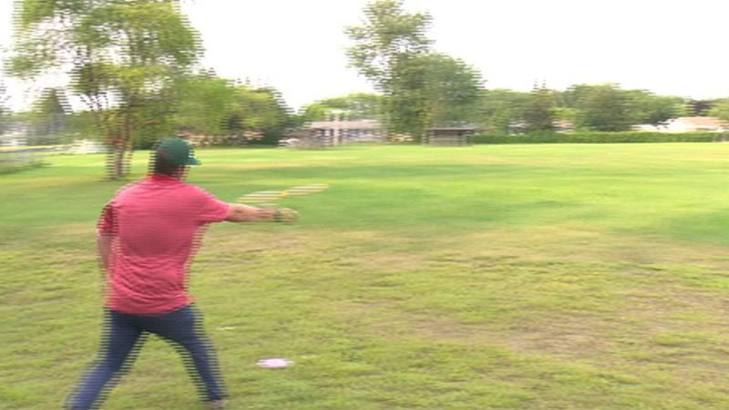 The pop-up disc golf course at Burlington's Schifilliti Park could become permanent.