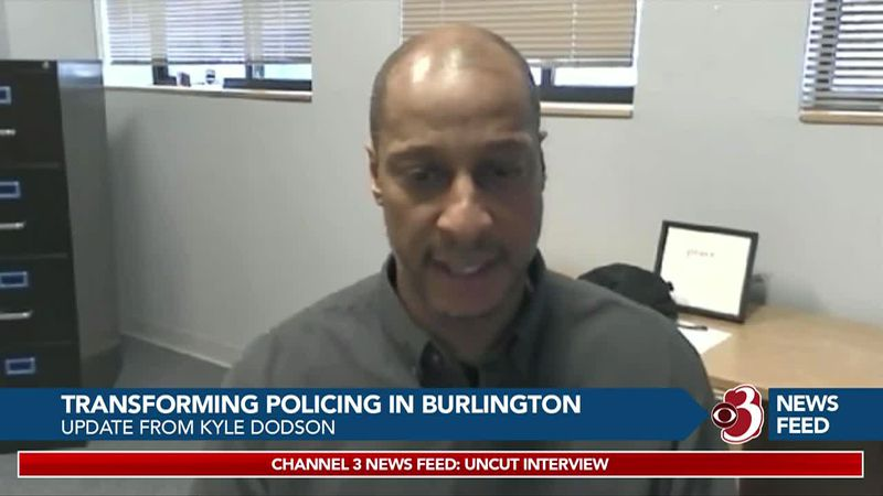WCAX's Celine McArthur discusses Burlington Police Transformation with Director Kyle Dodson,...
