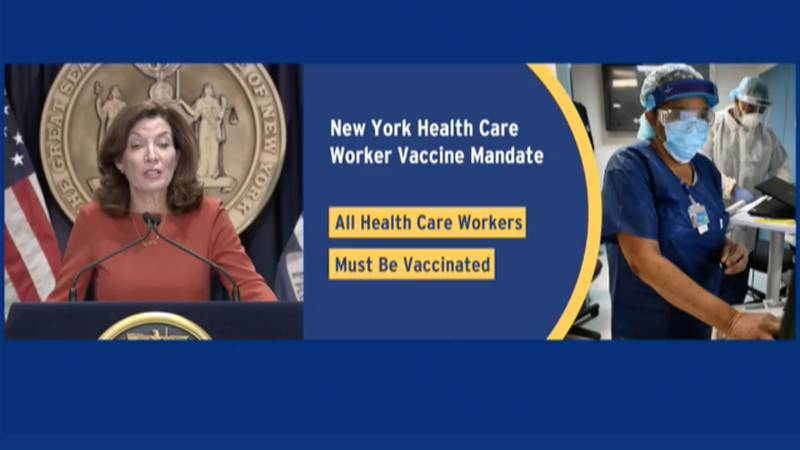Gov. Kathy Hochul holds an update on the state's pandemic response.