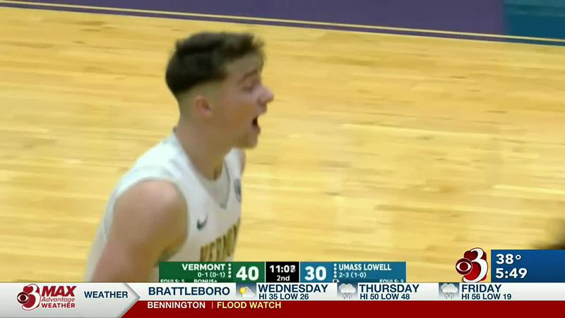 Vermont downs Lowell 62-53