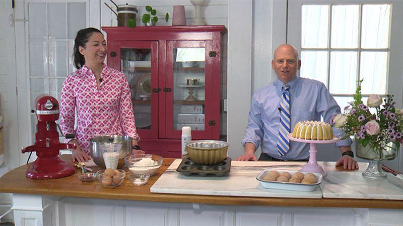 Gesine Prado in her Hartford kitchen with Scott Fleishman.