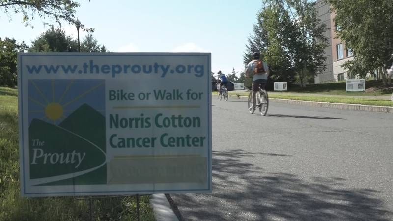 More than 2,000 The Prouty participants rode 20 miles through Hanover Saturday.