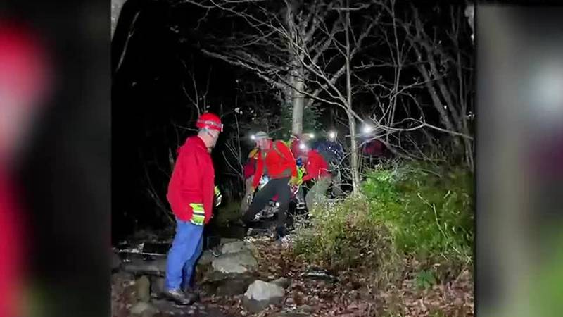 Technical rescue teams worked to rescue a woman hurt on Mountain Mansfield Sunday.