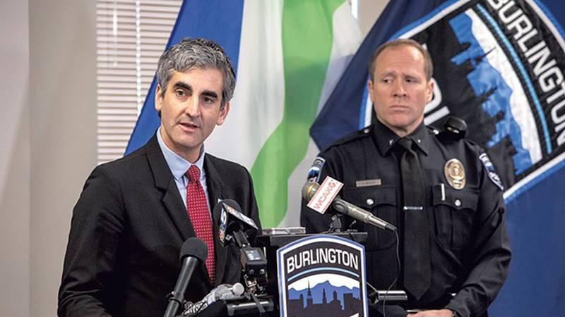 Mayor Miro Weinberger and acting Police Chief Jon Murad