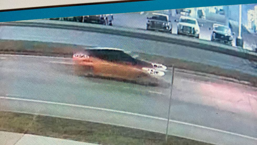 Police released this picture of the orange car at the scene. They're hoping to speak with the...