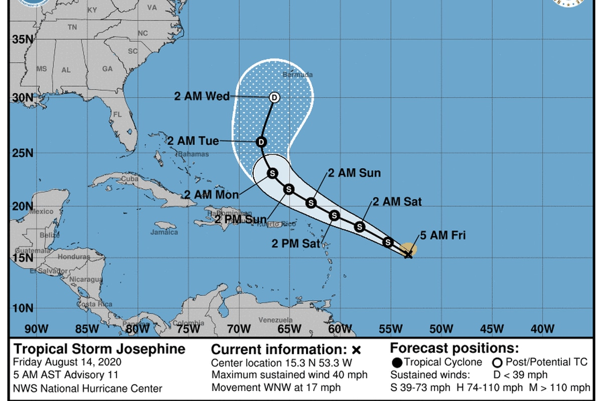 Weakening Expected For Tropical Storms Josephine Kyle