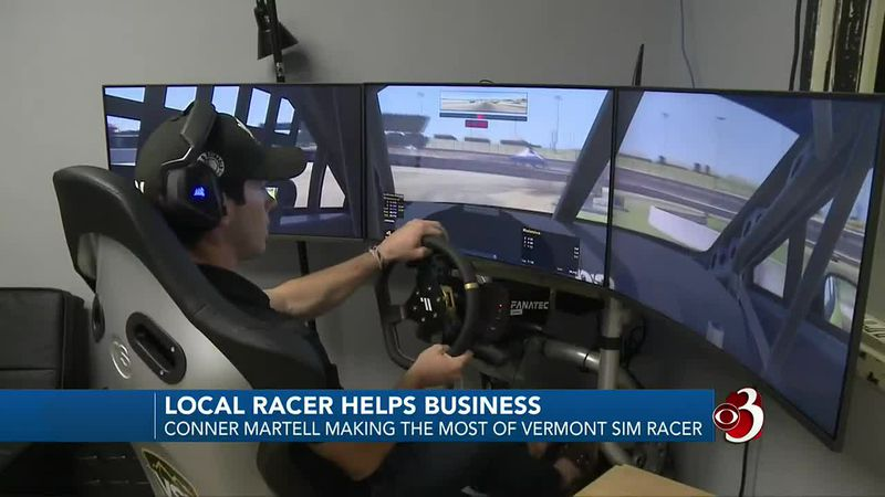 Colchester native Conner Martell supporting Vermont Sim Racer