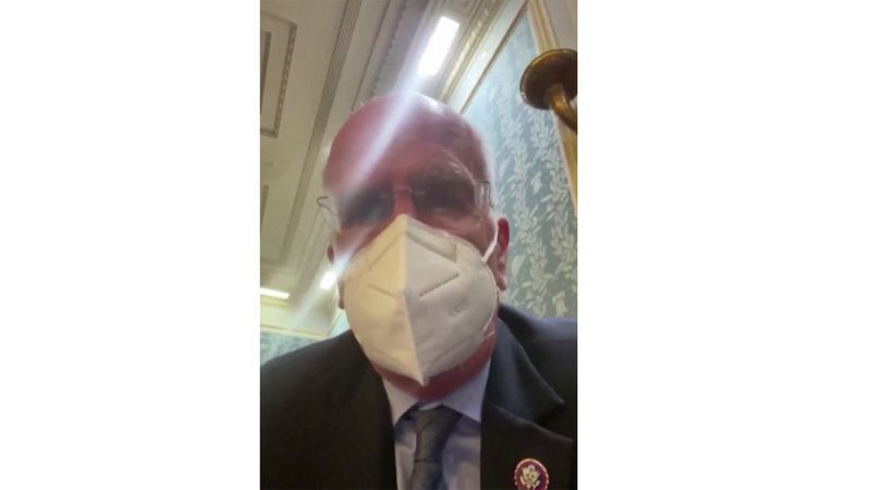 Rep. Peter Welch posted videos to Twitter of what was happening inside as rioters broke into...