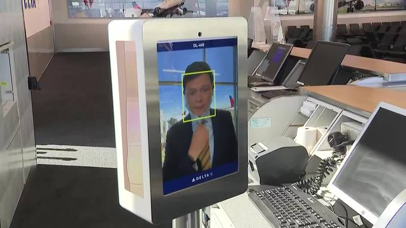 A facial recognition program being launched by Delta is intended to speed up the check-in...