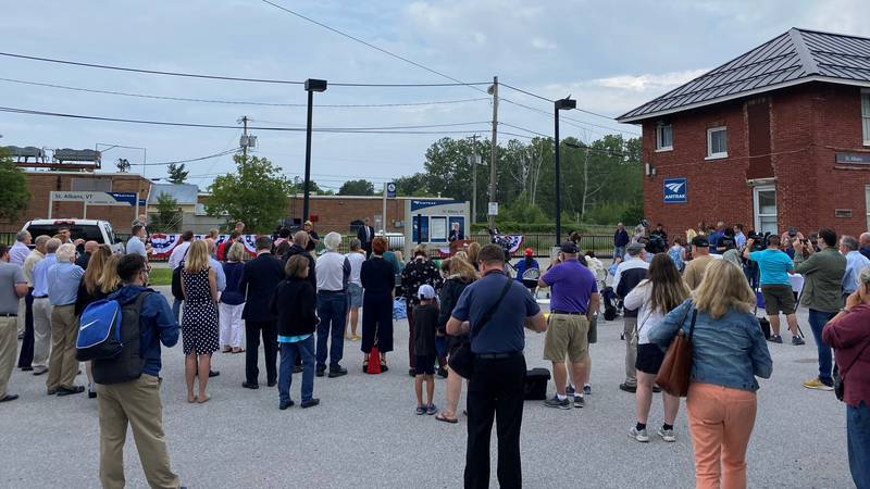 Amtrak event in St. Albans Monday morning