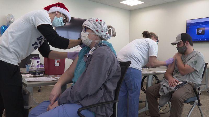 The COVID-19 Vaccine Team at the Rutland Regional Medical Center hosted a marathon vaccination...
