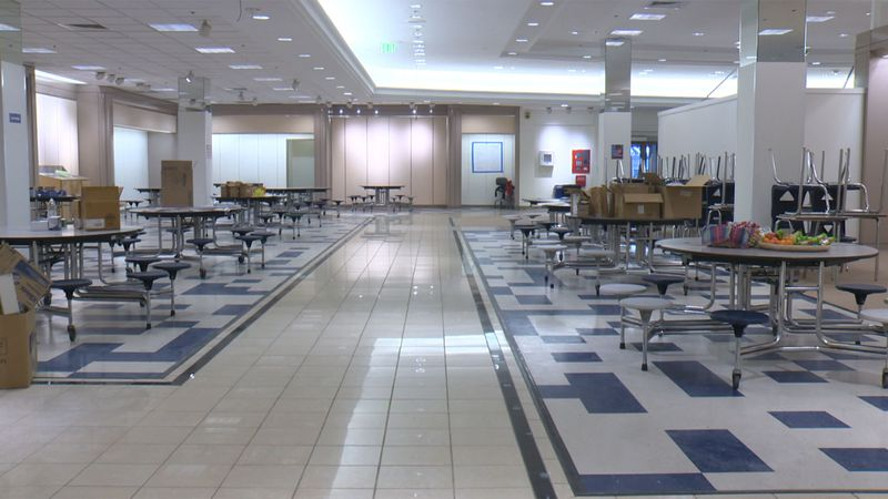 Renovations are done on the old Macy's building and it is now set to host Burlington High...