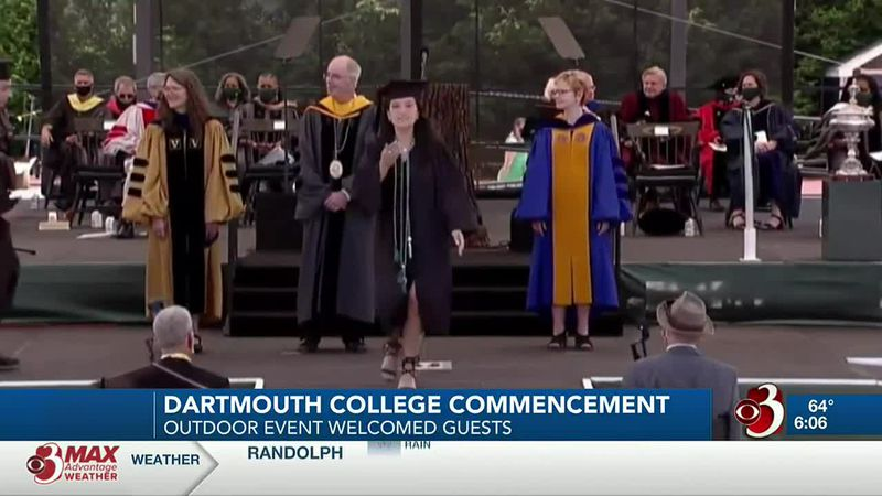 Dartmouth College graduates got a chance to get their diplomas and walk across the stage Sunday...