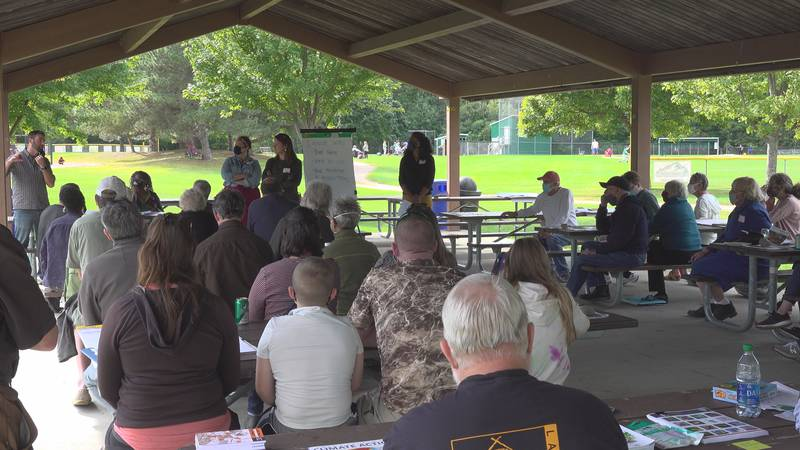 Vermonters meet in Colchester to discuss climate change.