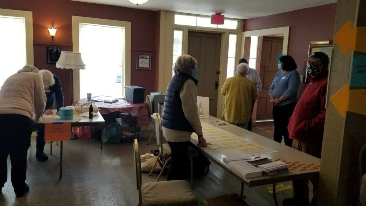 Voters at the polls in Brookfield.