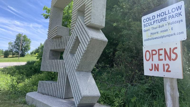 The Enosburg art park opened for the season on June 12.