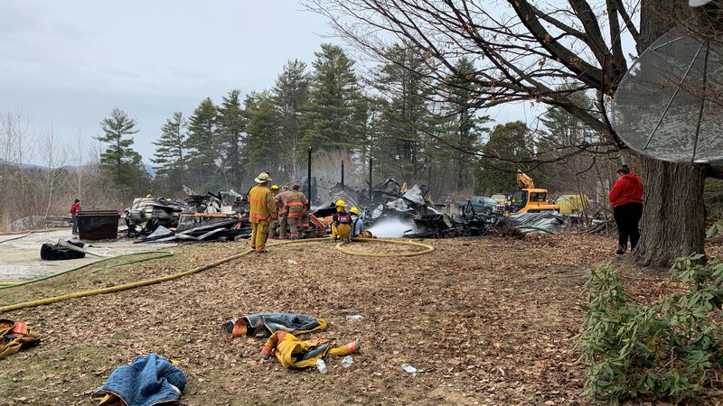 An explosion on Wednesday destroyed a Rutland Town business.