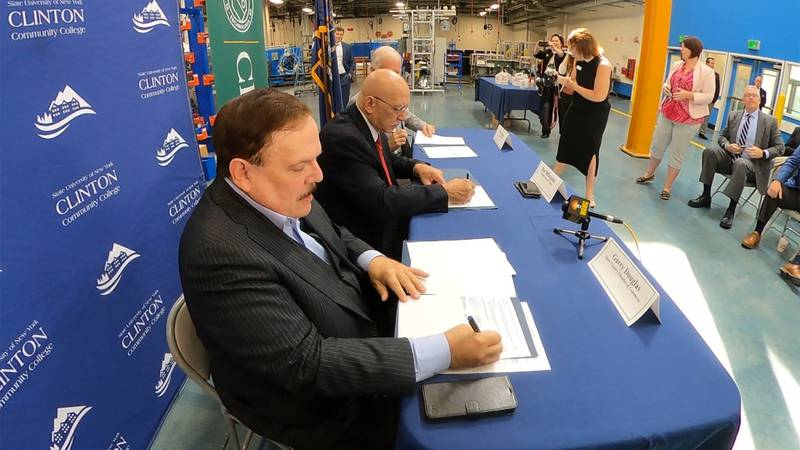 Clinton Community College and Clarkson University are partnering to combine their advanced...