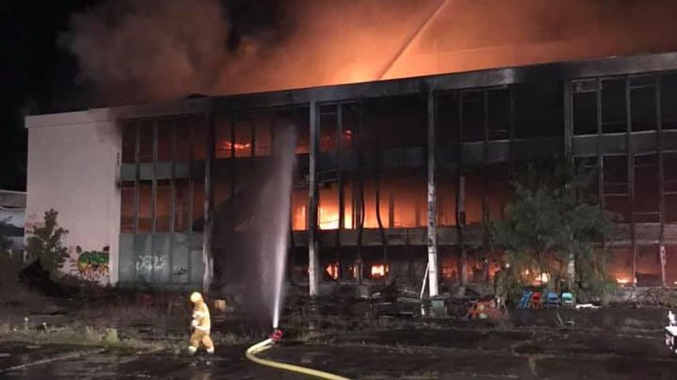 Fire crews battle early morning blaze at the Green Mountain Race Track in Pownal.