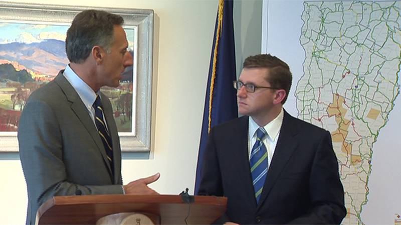 File - Gov. Peter Shumlin and Neal Lunderville.