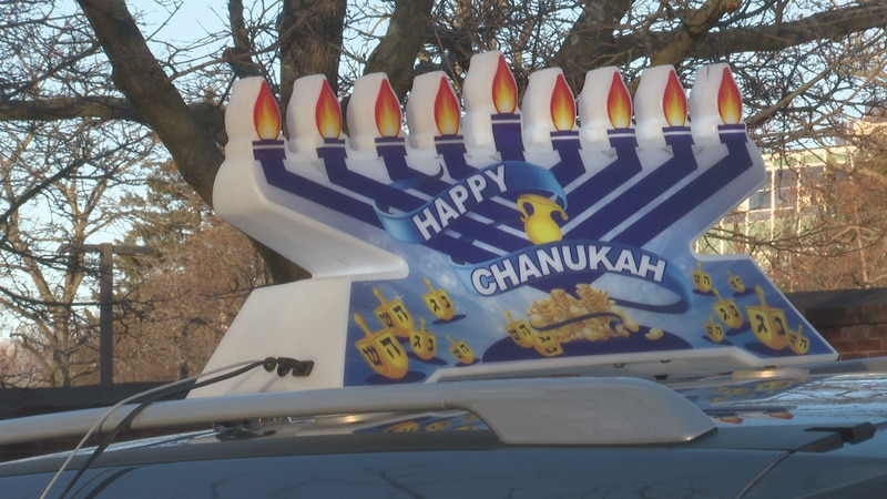 About 100 people from Chabad Vermont gathered early Sunday evening for a car parade.