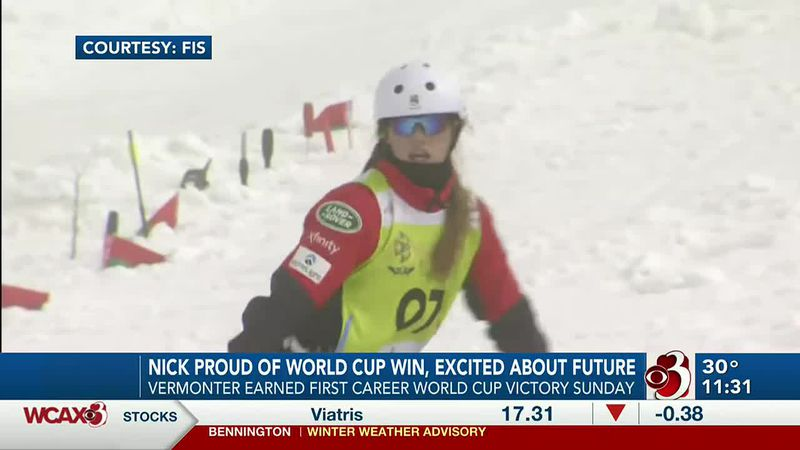 24-year-old from Shelburne earned her first career World Cup victory in Aerials on Sunday.