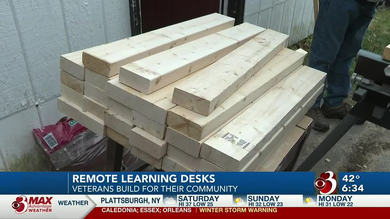 Veterans team up to build desks