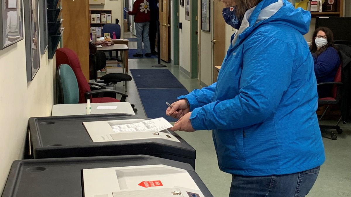Voting on Election Day in Berlin, Vermont.