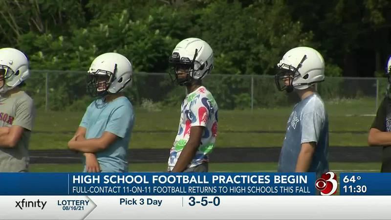 Burlington-South Burlington one of many high school football teams to begin practice