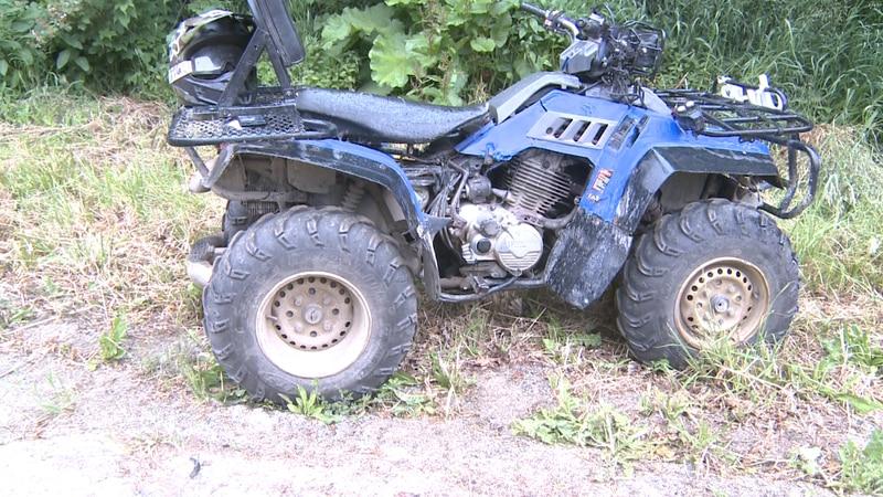 ATV and Truck crash