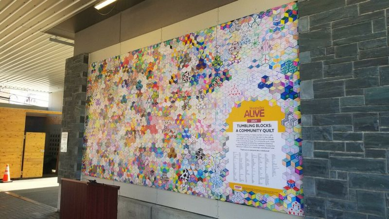 The Tumbling Blocks Community Quilt was unveiled Thursday at the Montpelier Transit Center