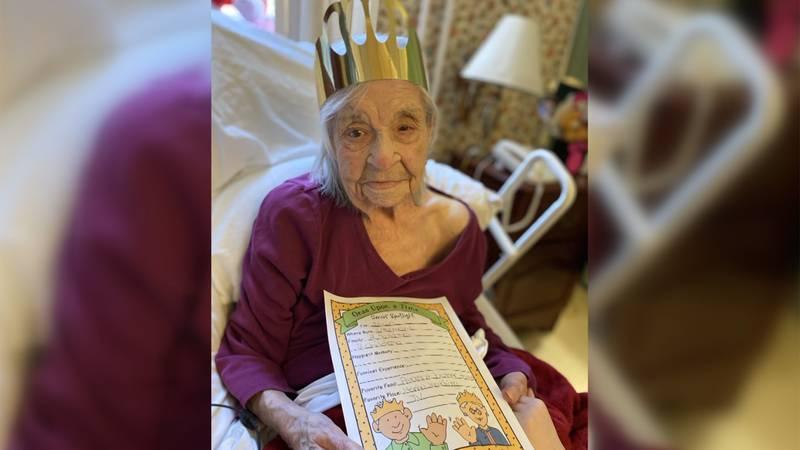 Josie Vezina turned 105 on Sunday