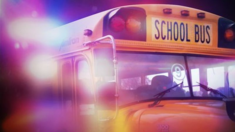 Police say a Montpelier man was driving drunk while following a school bus.