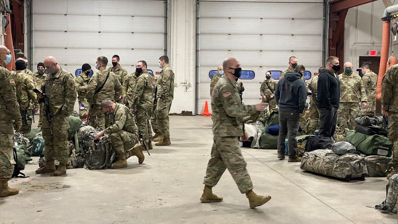 Troops leave for D.C.