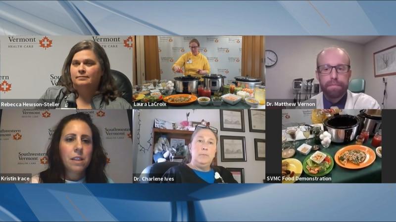 Virtual cancer-survivor cooking party put o by Southwestern Vermont Medical Center in Bennington.