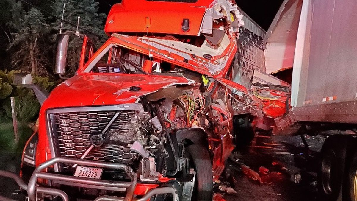 NHSP say two trucks collided in Chesterfield Thursday.