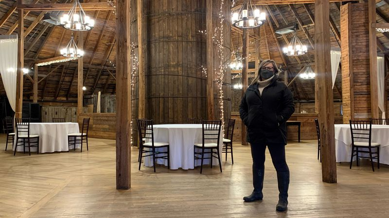 Kim Donahue, owner of Inn at the Round Barn Farm in Waitsfield, is concerned about finding ...
