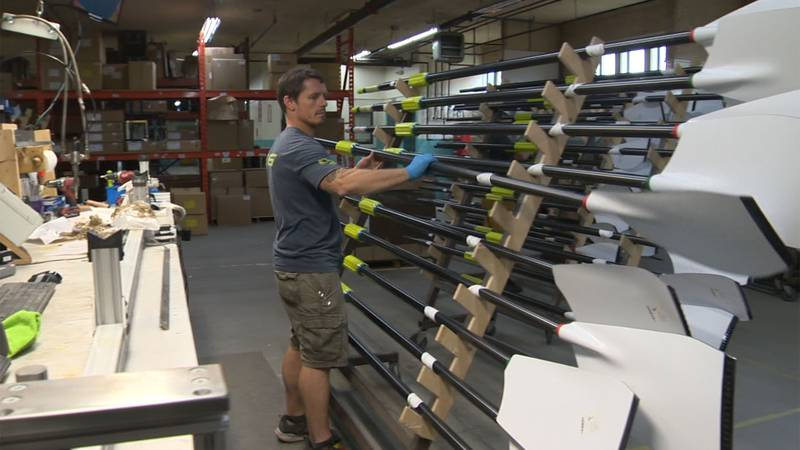 Most rowers in the Olympics this year used oars made right here in Vermont.