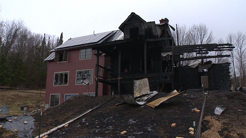 One person was injured and a Northfied home badly damaged in a fire that drew a large response...