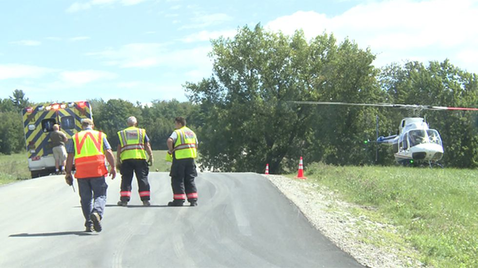 A utility worker needed to be airlifted following an accident in Enosburgh Thursday.