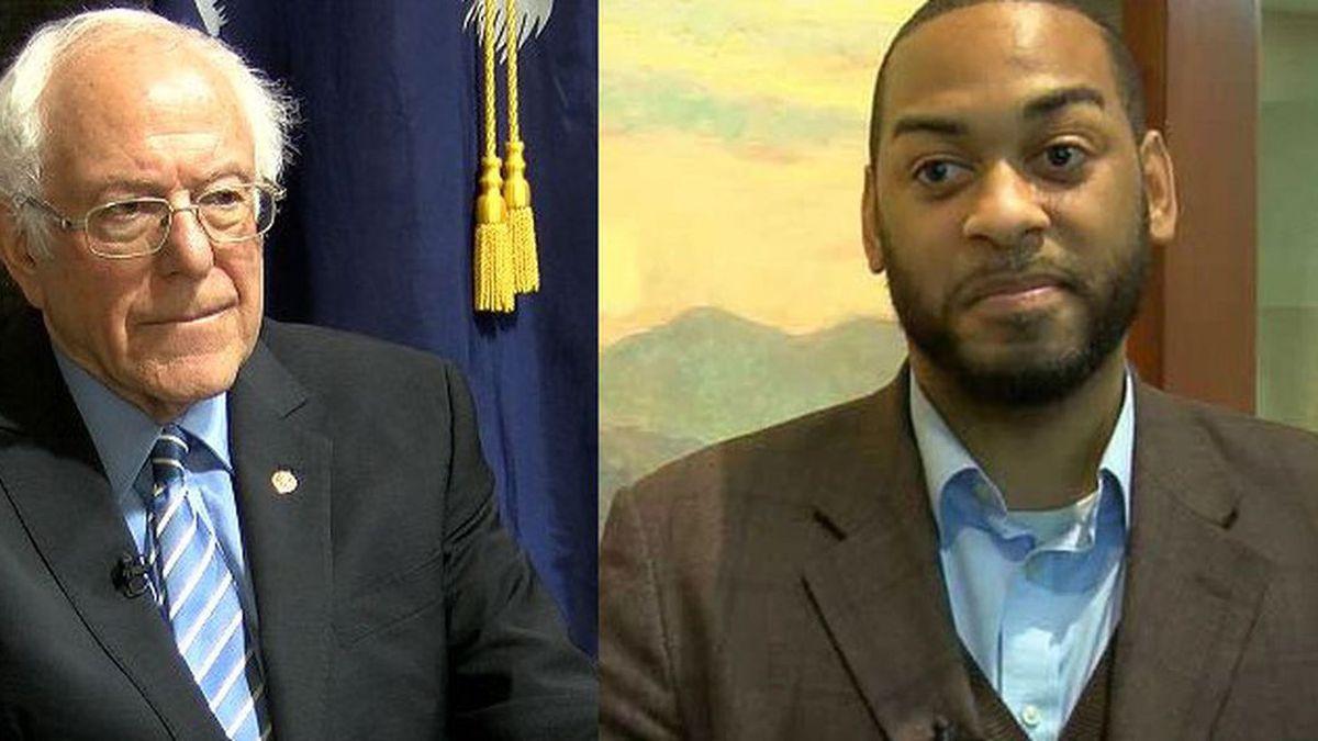 Sen. Bernie Sanders and former Kentucky State Representative Charles Booker.