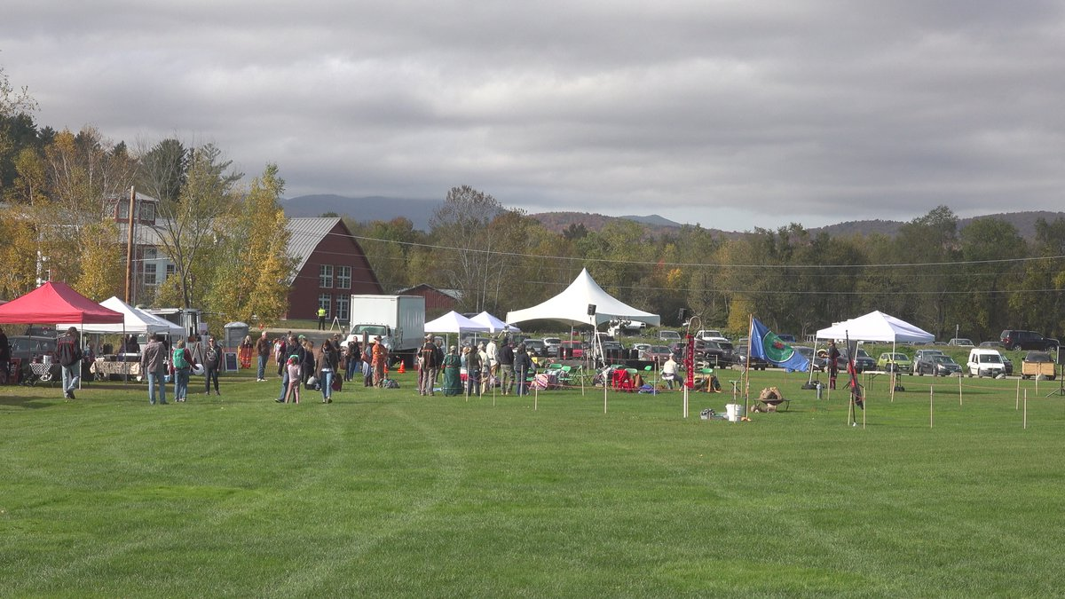 Vendors and community members gather in Stowe to celebrate Indigenous People's Day.