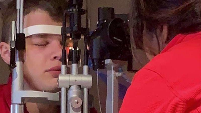 Fred Graves suffers from keratoconus, a progressive eye disorder affecting the cornea.