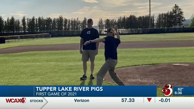 The first game for the Tupper Lake River Pigs was Saturday night.