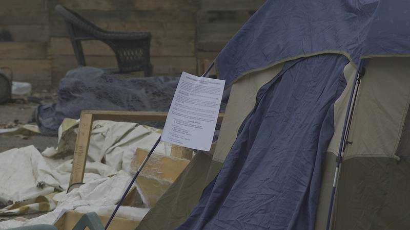 The residents of the South End homeless encampment received notice on Thursday that they'd need...