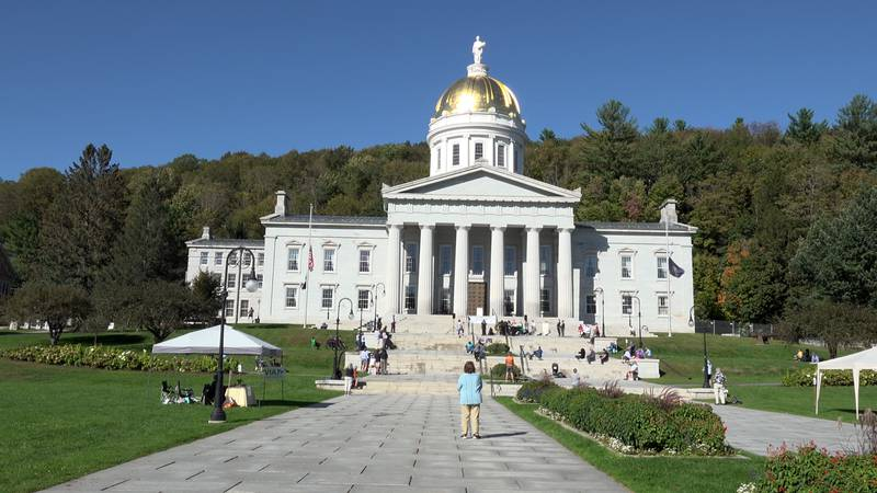 Families of Vermonters who died from COVID-19 gather at the statehouse