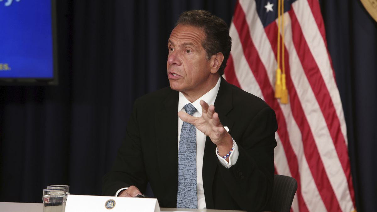 New York Gov. Andrew Cuomo updates the state of New York on COVID-19 quarantine decisions and...